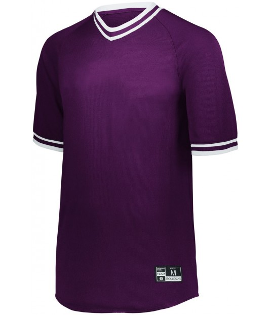 HOLLOWAY SPORTSWEAR RETRO V-NECK BASEBALL JERSEY