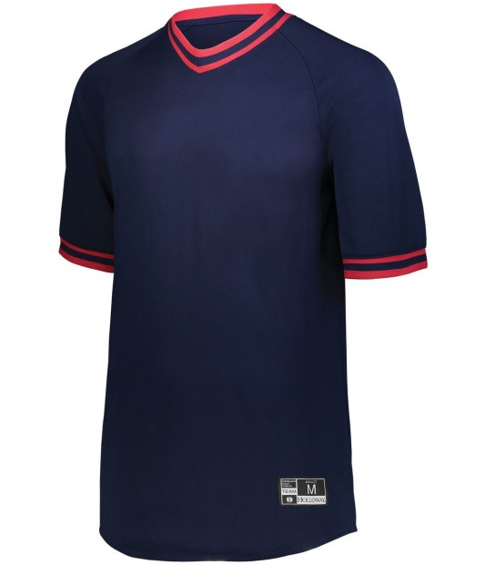 Boys Retro V-Neck Baseball Jersey