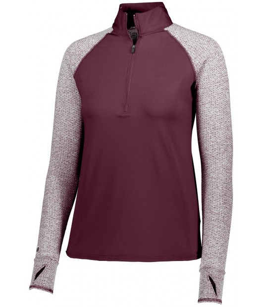 HOLLOWAY SPORTSWEAR GIRLS AXIS 1/2 ZIP PULLOVER