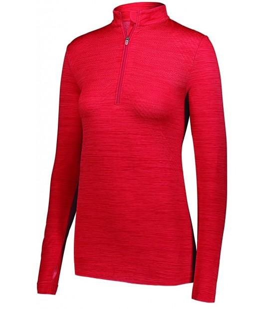 Ladies Striated 1/2 Zip Pullover