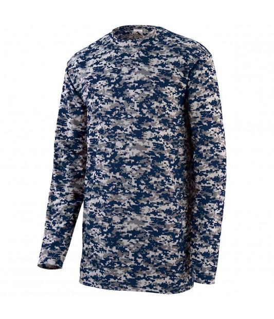 Augusta Sportswear Youth Digi Camo Wicking Long Sleeve T-Shirt