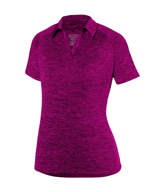 WOMENS INTENSIFY BLACK HEATHER POLO