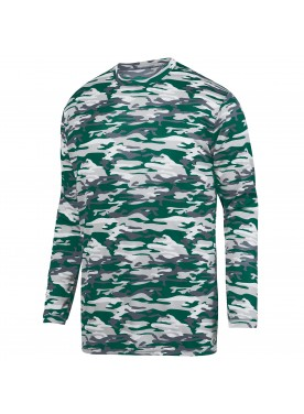 Boys Mod Camo Long Sleeve Wicking Tee