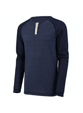 Men's Linear Fusion Long Sleeve Henley