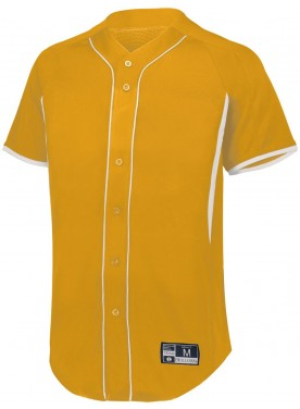 HOLLOWAY SPORTSWEAR BOYS  GAME7 FULL-BUTTON BASEBALL JERSEY