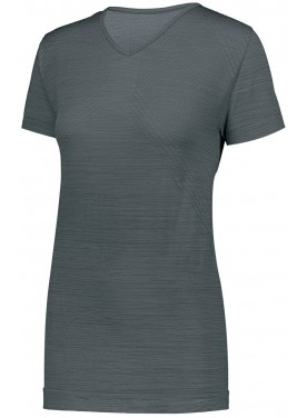 Womens STRIATED SHIRT SHORT SLEEVE