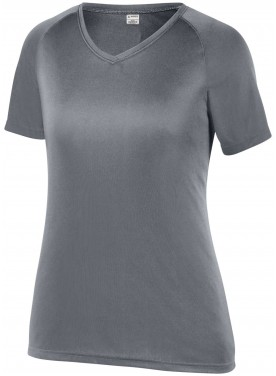 AUGUSTA SPORTSWEAR GIRLS ATTAIN RAGLAN SLEEVE WICKING TEE