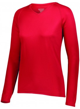 AUGUSTA SPORTSWEAR WOMENS ATTAIN WICKING LONG SLEEVE SHIRT