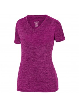 Ladies Intensify Black Heather Training Tee