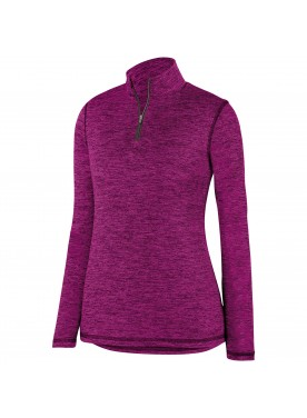 Womens Intensify Black Heather 1/4 Zip Pullover