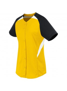 HIGH FIVE WOMENS GALAXY FULL BUTTON SOFTBALL JERSEY