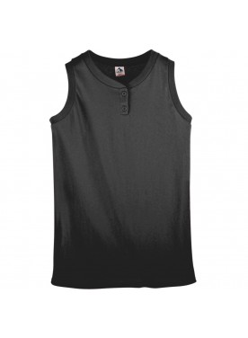 Womens SLEEVELESS TWO BUTTON SOFTBALL JERSEY