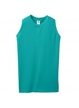 Girls Sleeveless V-Neck Poly/Cotton Jersey