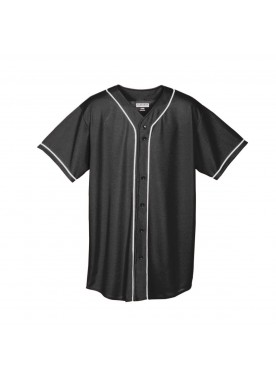 Boys WICKING MESH BUTTON FRONT JERSEY