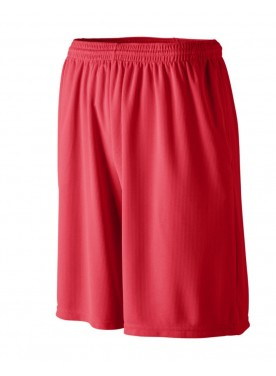 AUGUSTA SPORTSWEAR MEN LONGER LENGTH WICKING SHORTS WITH POCKETS