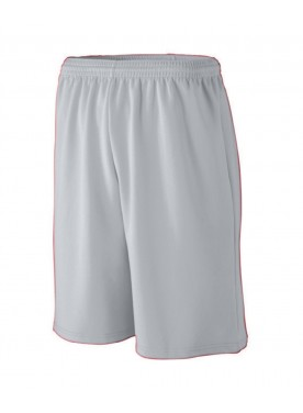 Boys LONGER LENGTH WICKING MESH ATHLETIC SHORTS