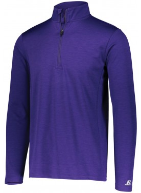 RUSSELL MEN DRI-POWER LIGHTWEIGHT 1/4 ZIP PULLOVER