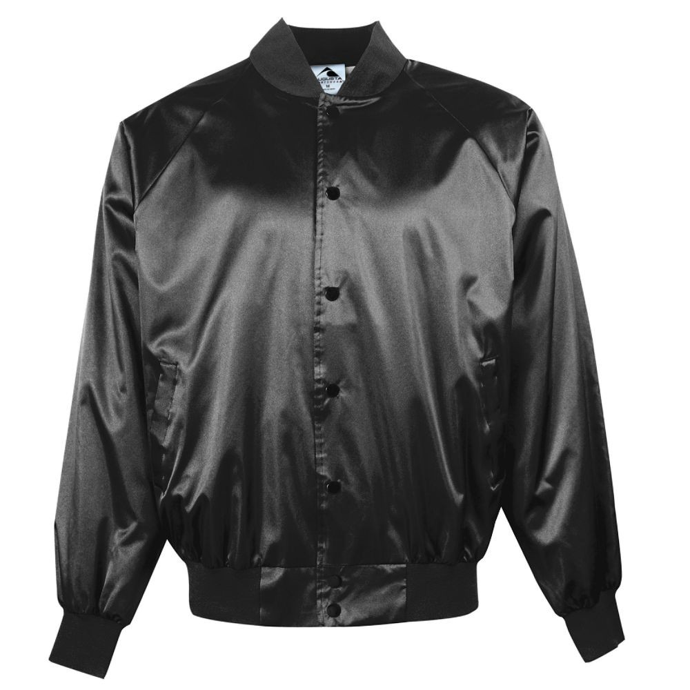 Satin Baseball Jacket with Slash Front Pockets | Augusta Sportswear