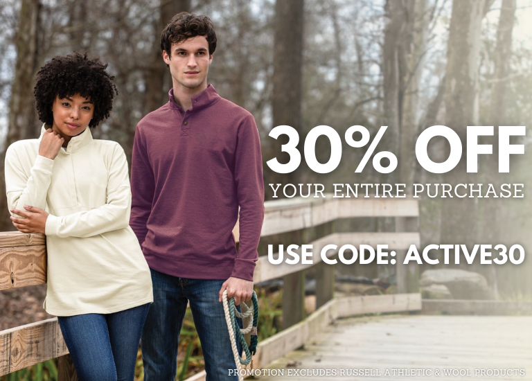 30% Off Your Active Wear Purchase