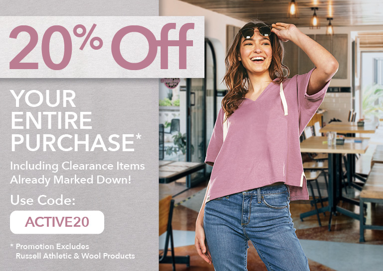 20% Off Your Activewear Purchase