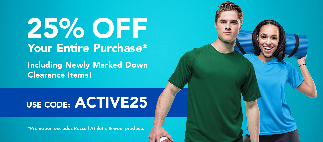 25% Off Your Purchase with Code ACTIVE25