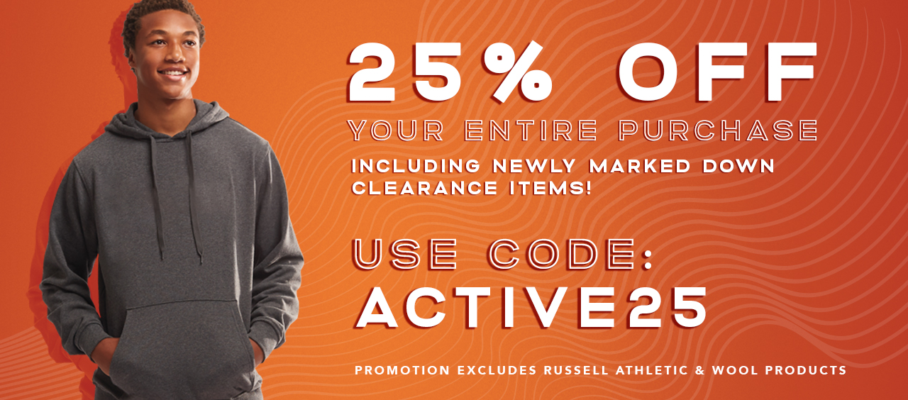 25% Off Your Activewear Purchase with Code ACTIVE25